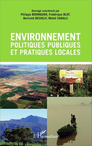 Couverture Environnement, politiques publiques et pratiques locales