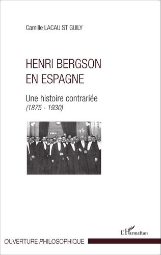 Couverture Henri Bergson en Espagne
