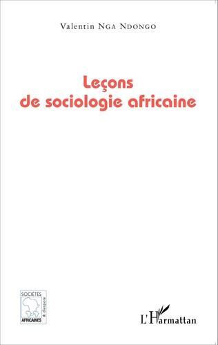 Couverture Leçons de sociologie africaine