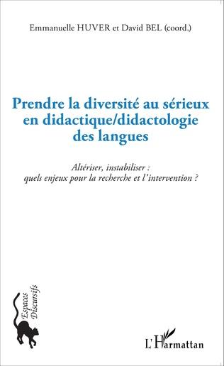Couverture Prendre la diversité au sérieux en didactique/didactologie des langues