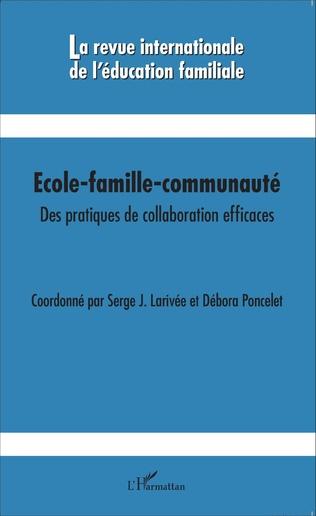 Couverture Ecole-famille-communauté