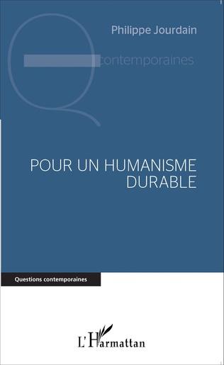 Couverture Pour un humanisme durable