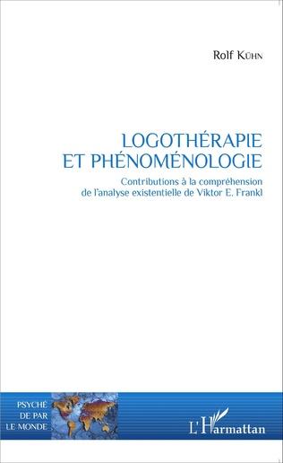 Couverture Logothérapie et phénoménologie
