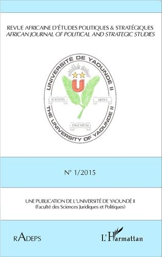 Couverture Revue africaine d'études politiques et stratégiques