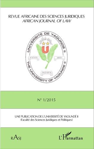 Couverture Revue africaine des sciences juridiques n° 1/2015