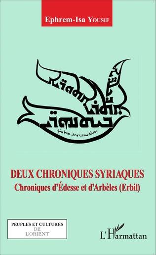 Couverture Deux chroniques syriaques