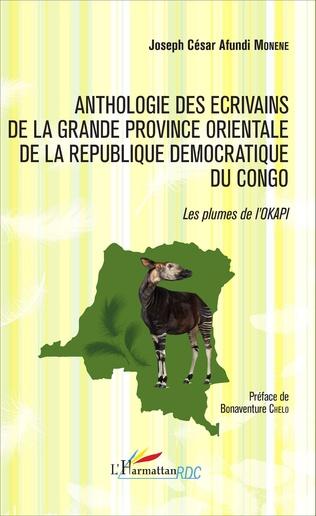 Couverture Anthologie des écrivains de la grande province orientale de la République Démocratique du Congo
