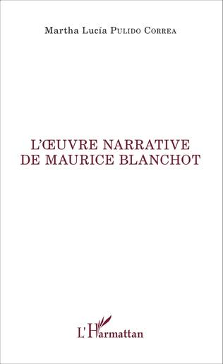 Couverture L'oeuvre narrative de Maurice Blanchot