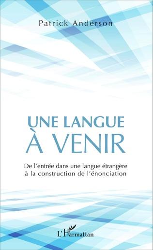 Couverture Une langue à venir