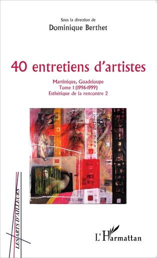 Couverture 40 entretiens d'artistes