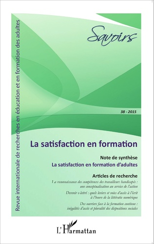 Couverture La satisfaction en formation
