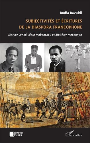 Couverture Subjectivités et écritures de la diaspora francophone