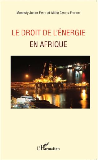 Couverture Le droit de l'énergie en Afrique