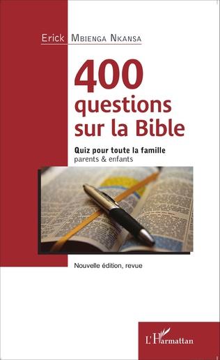 Couverture 400 questions sur la Bible
