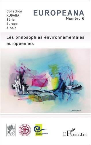 Couverture Les philosophies environnementales européennes