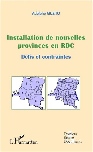 Couverture Installation de nouvelles provinces en RDC (fascicule broché)