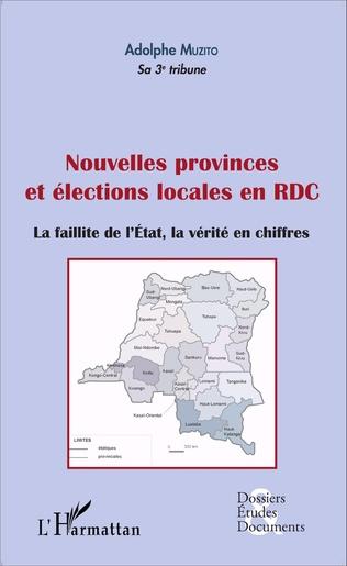 Couverture Nouvelles provinces et élections locales en RDC (fascicule broché)