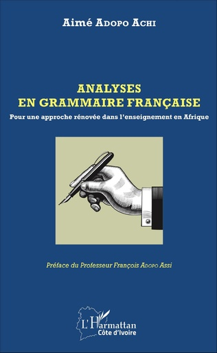 Couverture Analyses en grammaire française
