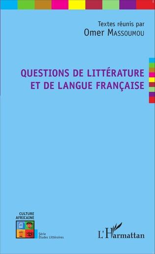 Couverture Questions de littérature et de langue française