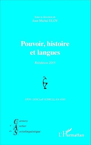 Couverture Pouvoir, histoire et langues