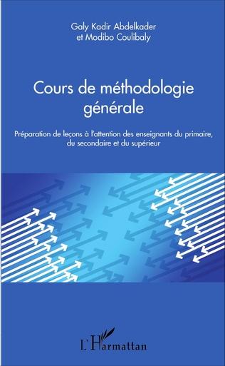 Couverture Cours de méthodologie générale