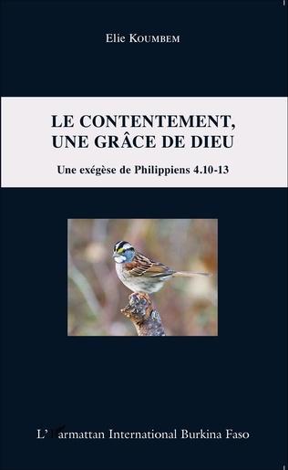 Couverture Le contentement, une grâce de Dieu