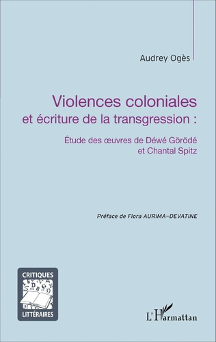 Couverture Violences coloniales et écriture de la transgression :