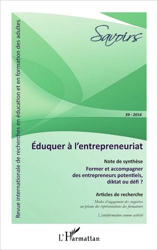 Couverture Éduquer à l'entrepreneuriat