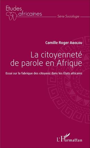 Couverture La citoyenneté de parole en Afrique