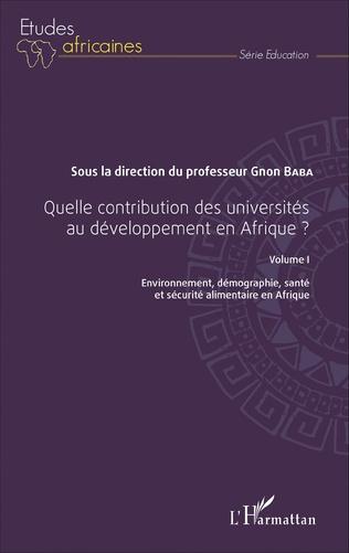 Couverture Quelle contribution des universités au développement en Afrique ? Volume I