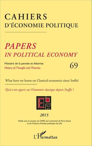 Couverture Cahiers d'économie politique 69