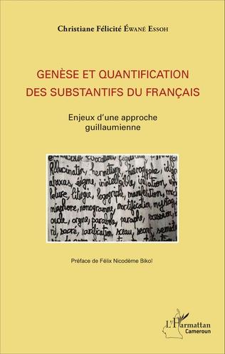 Couverture Genèse et quantification des substantifs du français