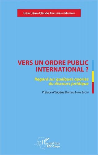 Couverture Vers un ordre public international ?