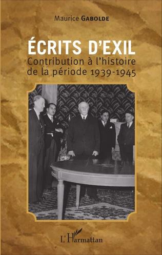 Couverture Ecrits d'exil