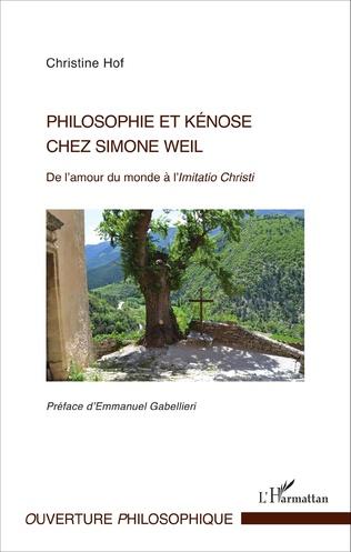 Couverture Philosophie et kénose chez Simone Weil