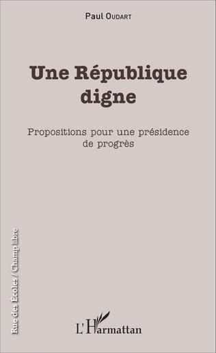 Couverture Une République digne