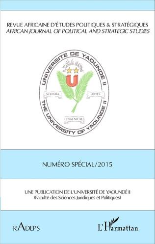 Couverture Revue africaine d'études politiques & stratégiques Numéro spécial 2015