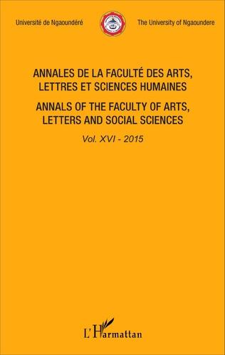 Couverture Annales de la faculté des arts, lettres et sciences humaines Vol XVI - 2015