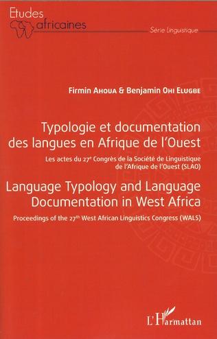 Couverture Typologie et documentation  des langues en Afrique de l'Ouest