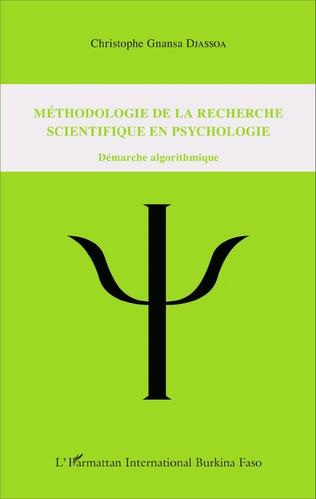 Couverture Méthodologie de la recherche scientifique en psychologie