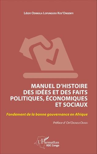 Couverture Manuel d'histoire des idées et des faits politiques, économiques et sociaux