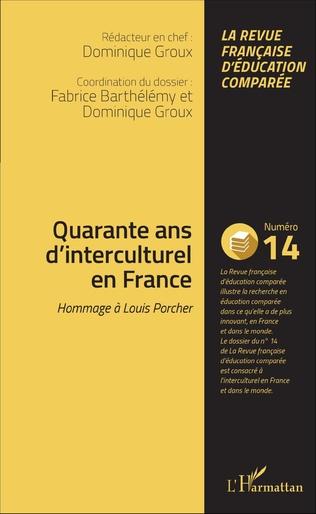 Couverture Quarante ans d'interculturel en France