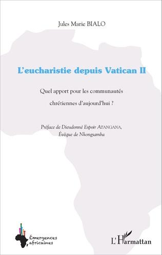 Couverture L'eucharistie depuis Vatican II