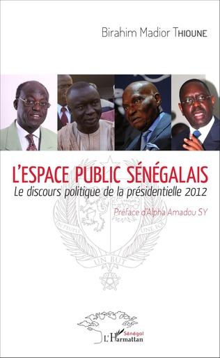 Couverture L'espace public sénégalais