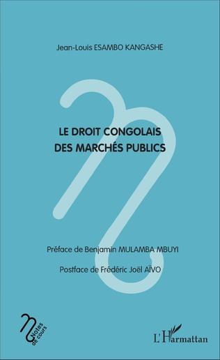Couverture Le droit congolais des marchés publics