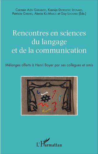 Couverture Rencontres en sciences du langage et de la communication