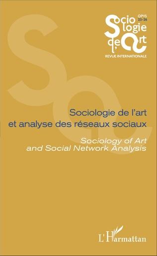 Couverture Sociologie de l'art et analyse des réseaux sociaux