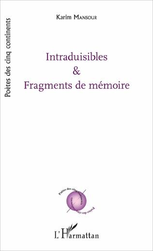 Couverture Intraduisibles et fragments de mémoire
