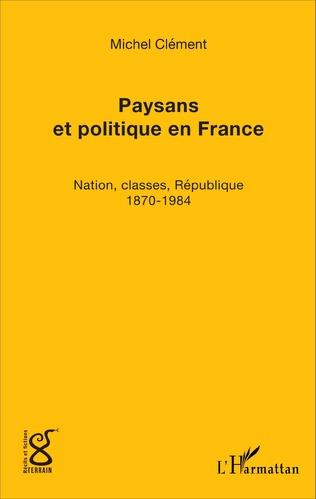 Couverture Paysans et politique en France