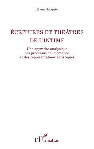 Couverture Ecritures et théâtre de l'intime